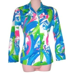 1970s vintage abstract shirt size xs small